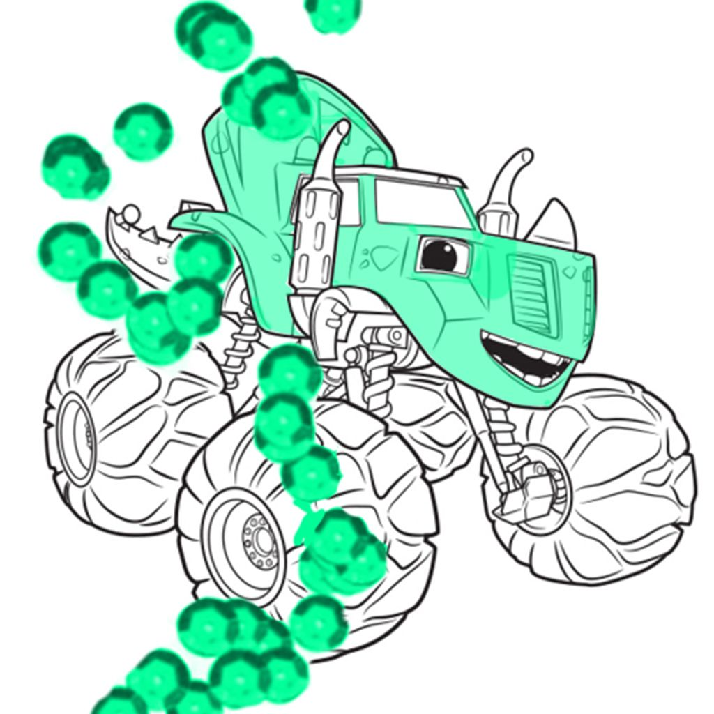 Blaze And The Monster MachinesZeg Colouring Pages For