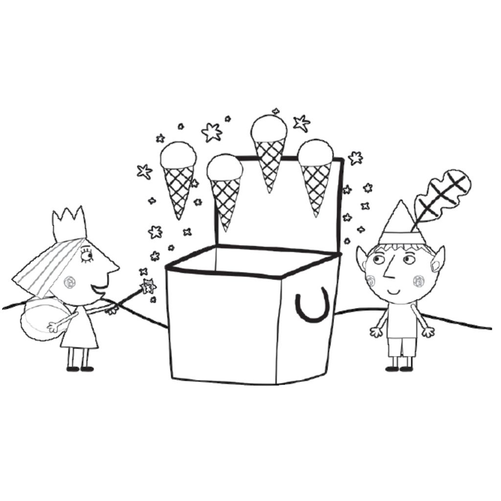 Little KingdomIce Creams Colouring Pages For Preschoolers