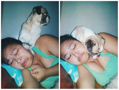 Damon Stepping On My Face, Then Sleeps on Top Of Me | Nickle Loves to Blog
