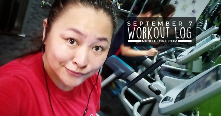 Workout Log – Sept. 7