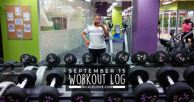 Workout Log – Sept. 15