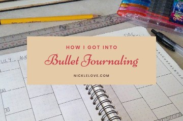 How I Got Into Bullet Journaling