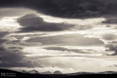 Cloud formations in Hvalfjörður