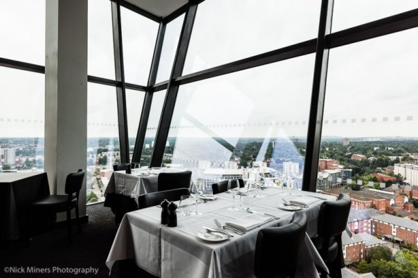 Top floor restaurant at Hotel Indigo in Birmingham