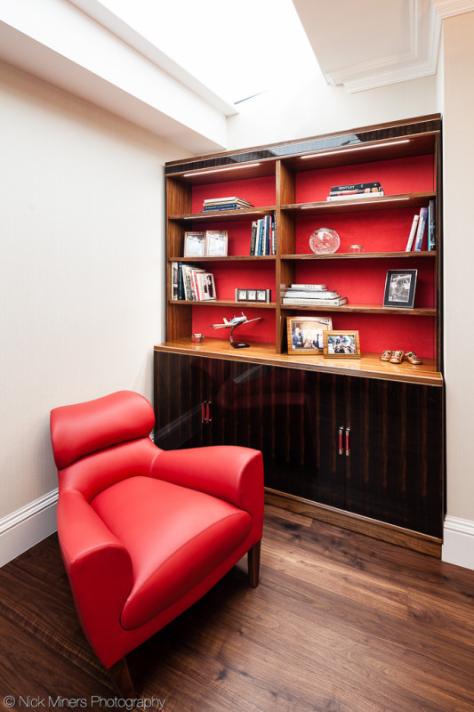 Bookshelf with matching easy chair