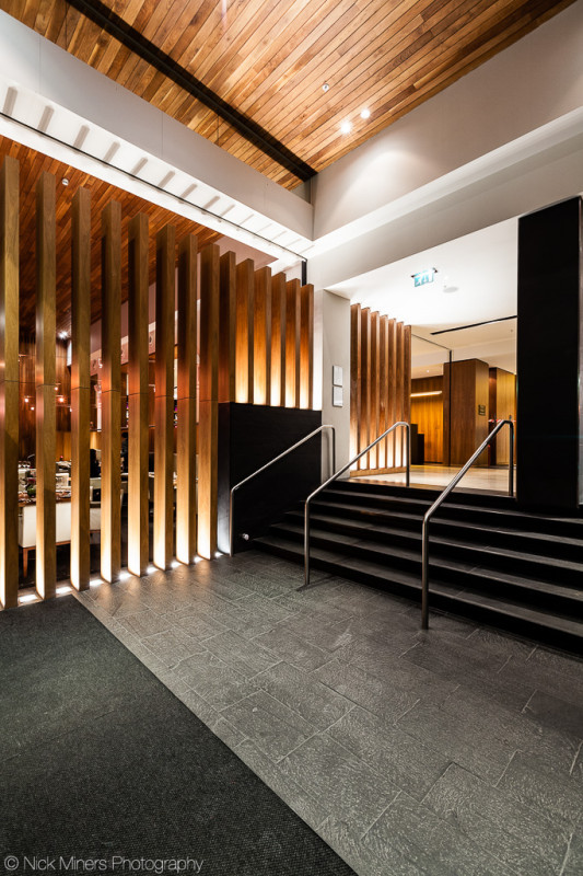 Wooden panelling in the Apex City of London hotel