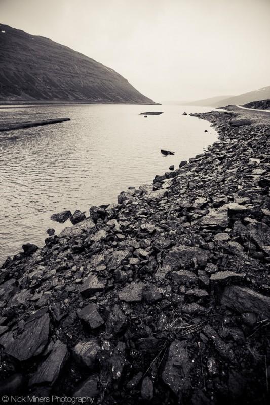 Ísafjorður fjord in Iceland