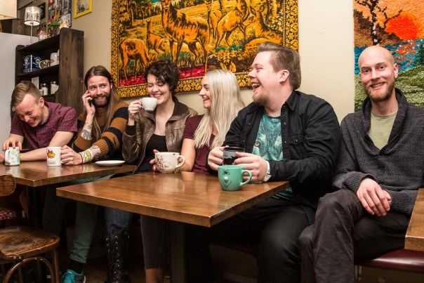 Left to right: Axel, Skúli, Helga, Hildur, Árni, and Bibbi