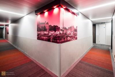 Corridor detail, Tune Hotel Canary Wharf
