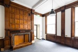 Original wooden fireplace, Tune Hotel Liverpool City Centre