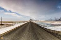 The Þjóðvegur road, which runs around the whole of Iceland