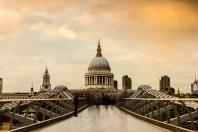 April, Millennium Bridge, London