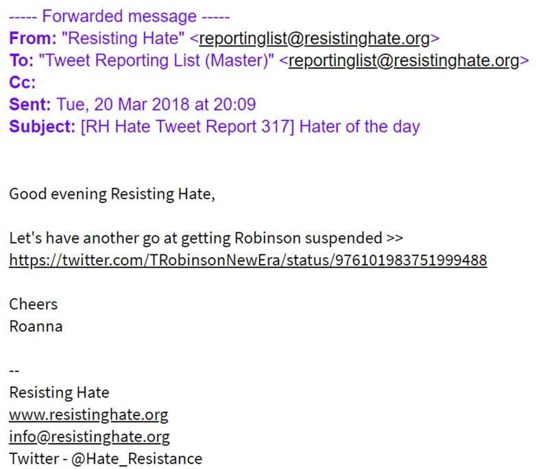 ResistingHateEmail