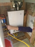 tankless water heater with arm only access