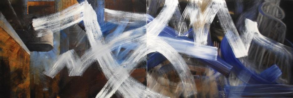 """City Space No. 4,"" 2014, oil on panel, 60 x 180 cm."