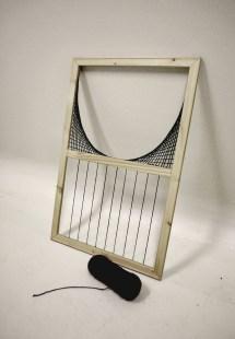 """Bifurcation Graph,"" 2014, wood and acrylic yarn, 36 x 48 in."