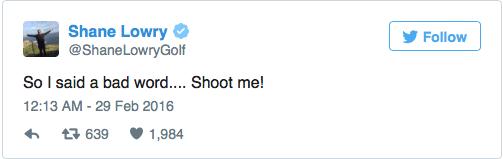 Pro golfer drops the F-bomb on live TV