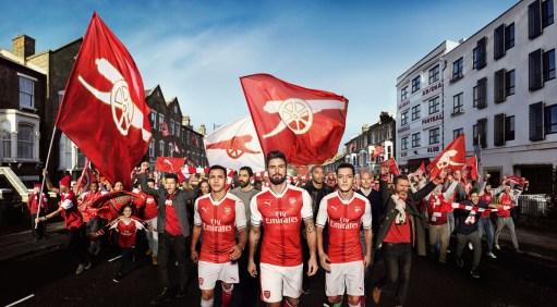Arsenal reveal their home kit for next season