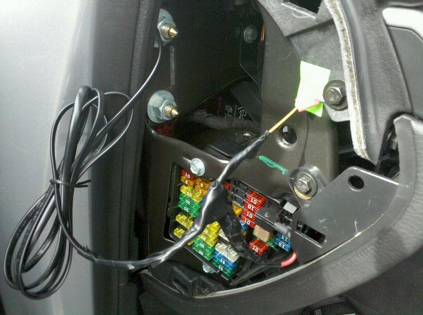 audi a4 b7 & b6 escort passport hardwire diy nick's car blog audi a4 1.8t fuse box add a circuit fuse tap install