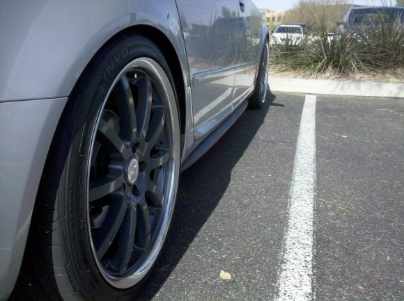 Audi A4 with DTH Side Skirts