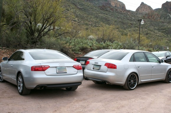 Modified Audis in Desert
