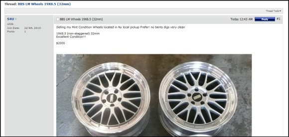 USED BBS LM Wheels For Sale