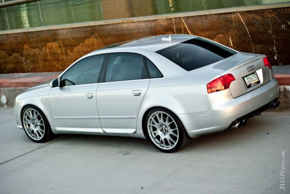 Audi A4 on BBS CH Wheels Rear Shot