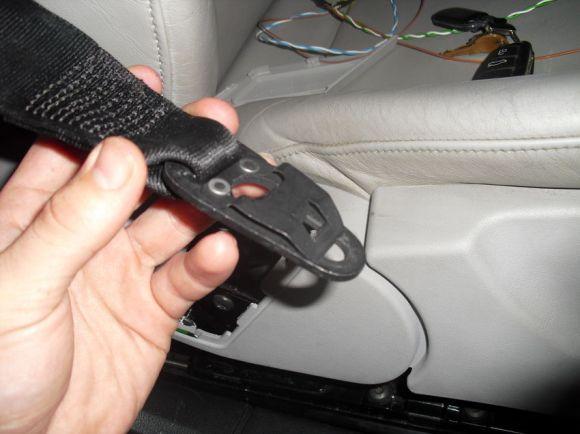 B7 A4 Seatbelt Removed