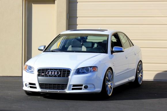 White Audi S4 Sedan