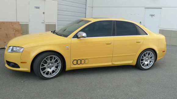 Imola Yellow Audi S4
