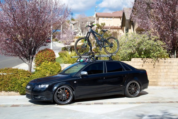Audi A4 with Bike Rack