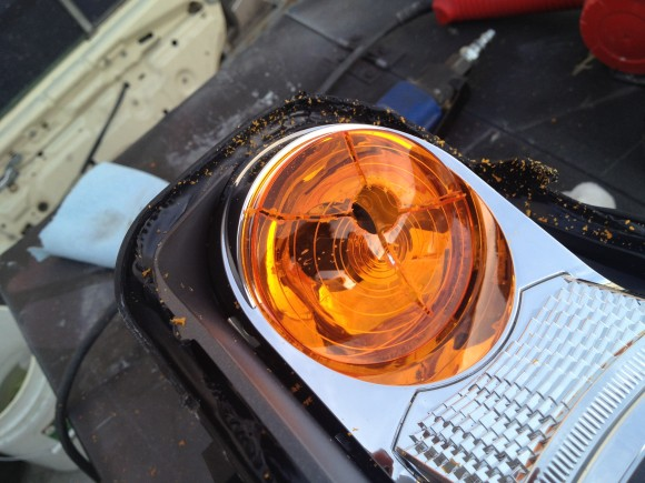 Amber Reflector in Headlight