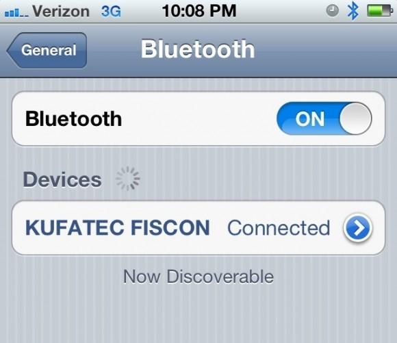 Bluetooth Connection iPhone