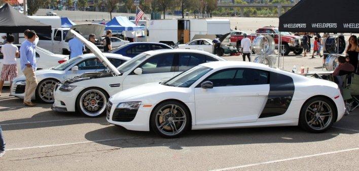 Audi R8s at Big SoCal Euro