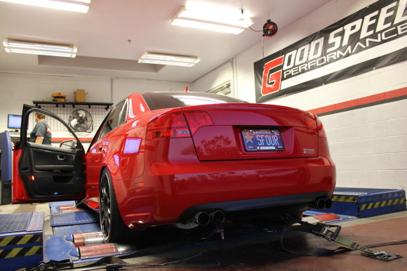 B7 S4 on the Dyno