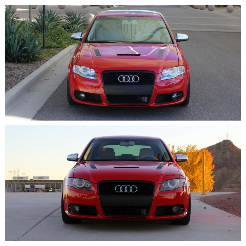 Audi S4 Aftermarket: Blacked Out Headlight Mod