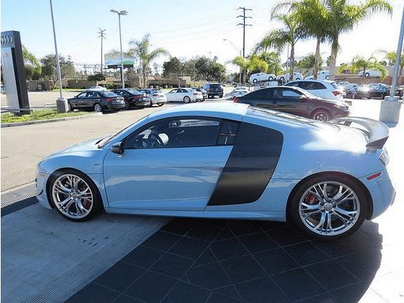 Meissen Blue Audi R8 GT