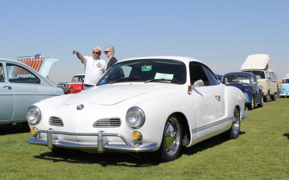 White VW Karmann Ghia