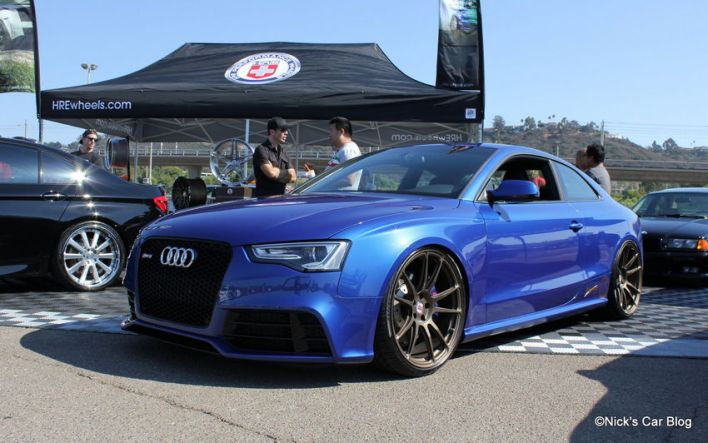 Blue RS5 on HREs