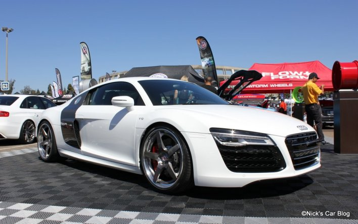 White Audi R8 on HRE Wheels