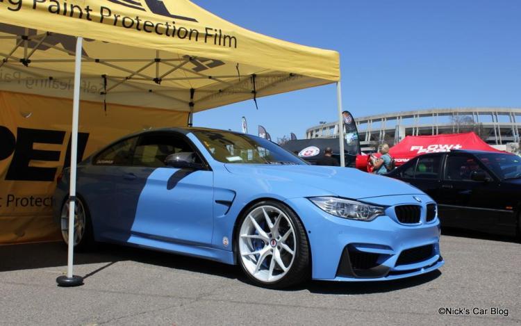 Blue M4 on White HRE Wheels