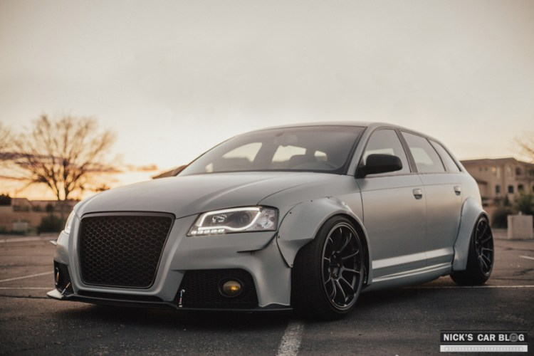 Insane Satin Battleship Gray Widebody Audi A3 Nick S Car