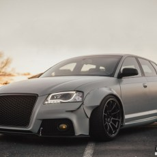 Insane Satin Battleship Gray Widebody Audi A3