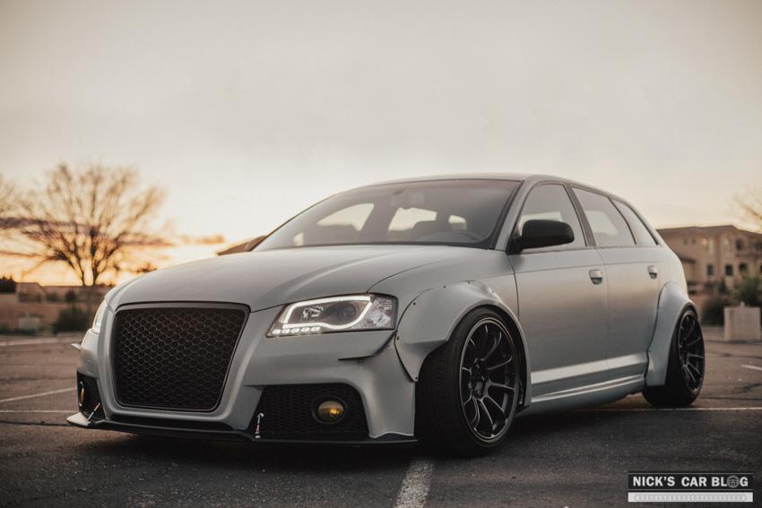 Insane Satin Battleship Gray Widebody Audi A3 Nicks Car Blog