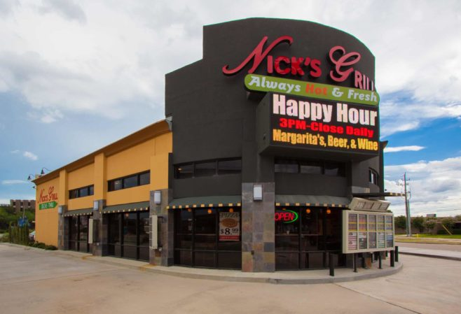 Nicks Grill Day Time Front View- 2416 Mangum Rd, Houston, TX 77092