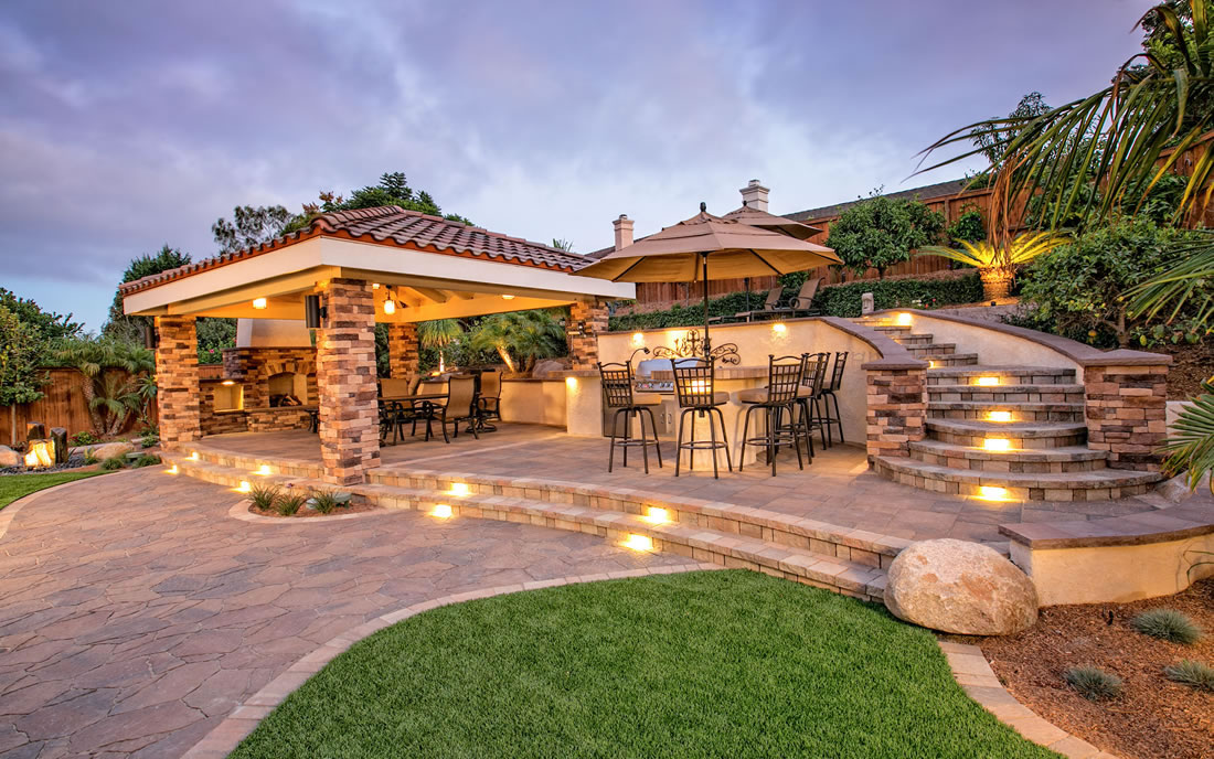 Outdoor Living Spaces with BBQ Island Gallery of Landscape ... on Outdoor Living And Landscapes id=33501
