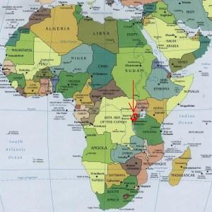 Africa Map-Rwanda