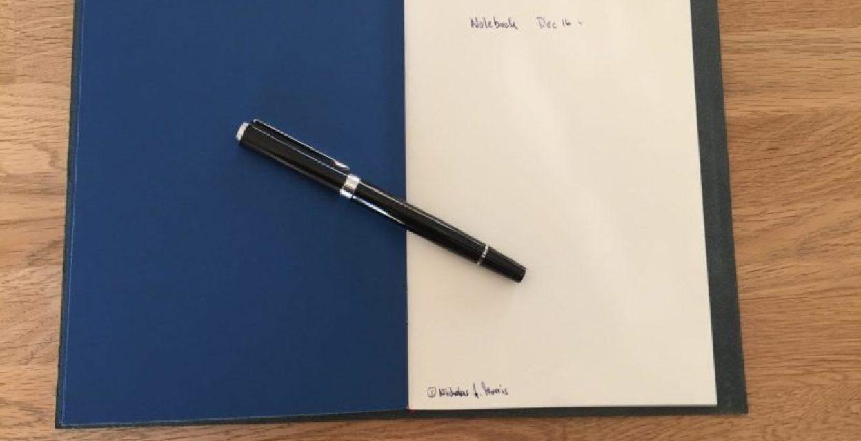 Edles Notizbuch im Ledereinband  'Grand Voyageur'