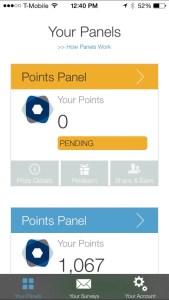 Panel App Rewards Screenshot