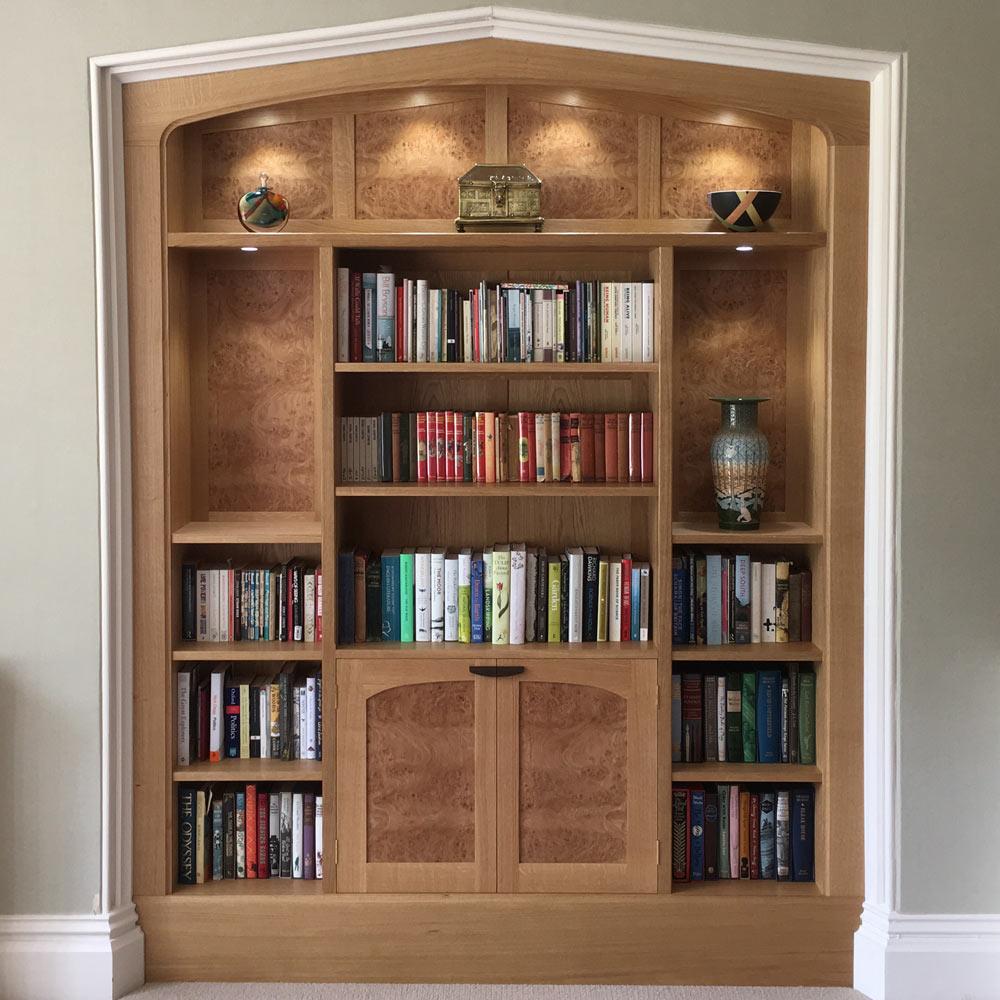 Oak Alcove display cabinet